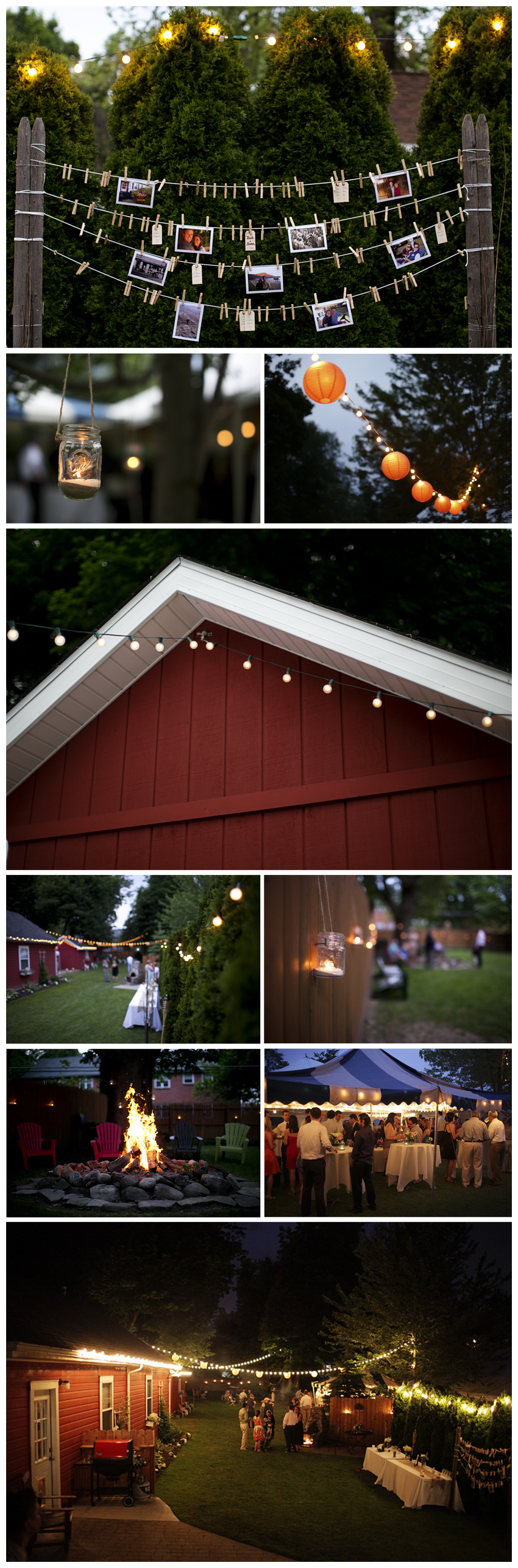Shaw Photography Co. Backyard Wedding Reception www.shawphotoco.com